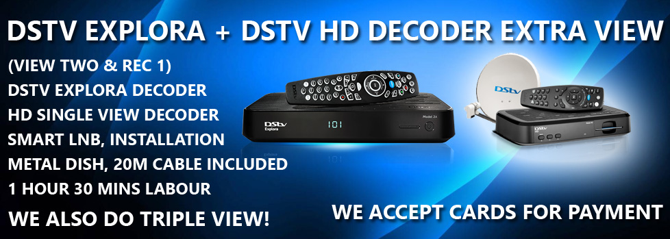 DSTV Explora + DSTV HD Decoder Extra View