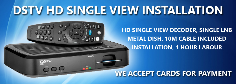 DSTV HD Single View Installation